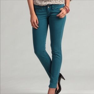 UNIONBAY jade teal stretch skinny jeans juniors 5
